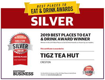 2019 Best Place To Eat & Drink - Tigz Tea Hut