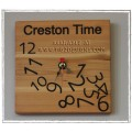 """Creston Time""  Clock - Made in Creston BC"