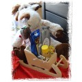 Christmas Tea, Honey & Chocolate Sled - Creston Gift Basket Delivery