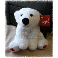 Plush Polar Bear with Red Maple Leaf on its paws