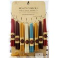 "12"" Taper Pair Beeswax Candles by Honey Candles - Made in BC"
